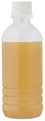 Bottle of orange brown water